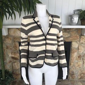 LOFT Knit LS Double Button Front Blazer M